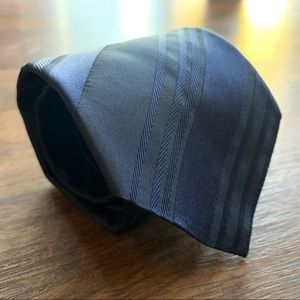 Dolce & Gabbana Blue Striped Slim Silk Tie
